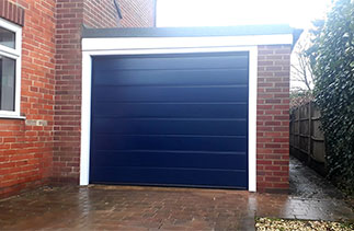 A Hormann M - Ribbed sectional garage door. Fitted in Newbury, Berkshire.