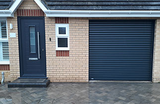 A Sws Seceuroglide Excel insulated roller shutter garage door fitted in Farnborough, Hampshire.