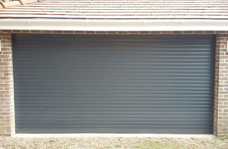Seceuroglide Excel roller shutter garage door in Anthracite