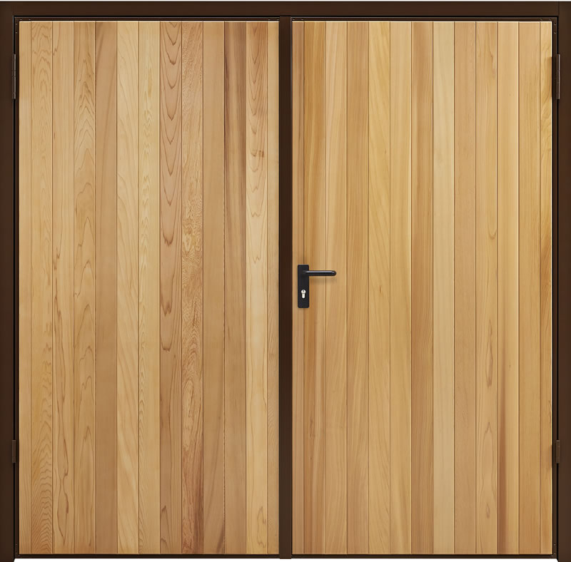 Garadoor Side Hinged Garage Doors - Vertical Cedar