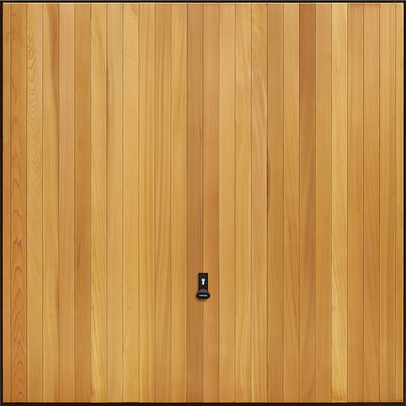 Garadoor Up and Over Garage Doors - Vertical Cedar
