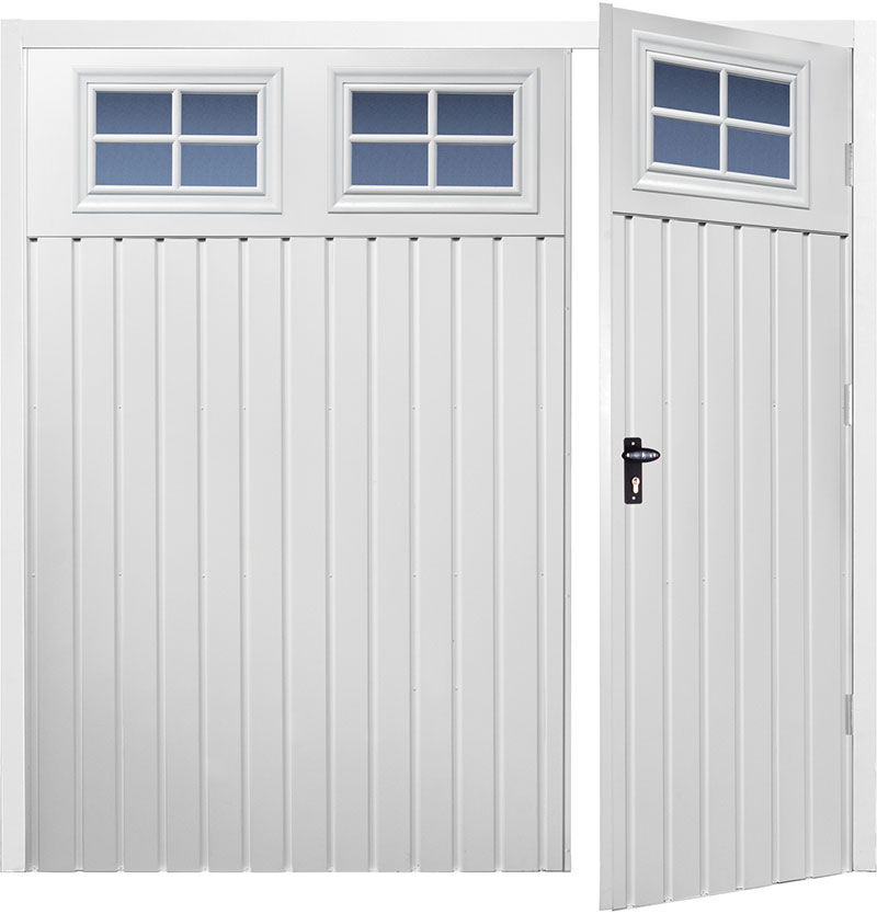 Gliderol Side Hinged Garage Doors - Chester Standard Vertical