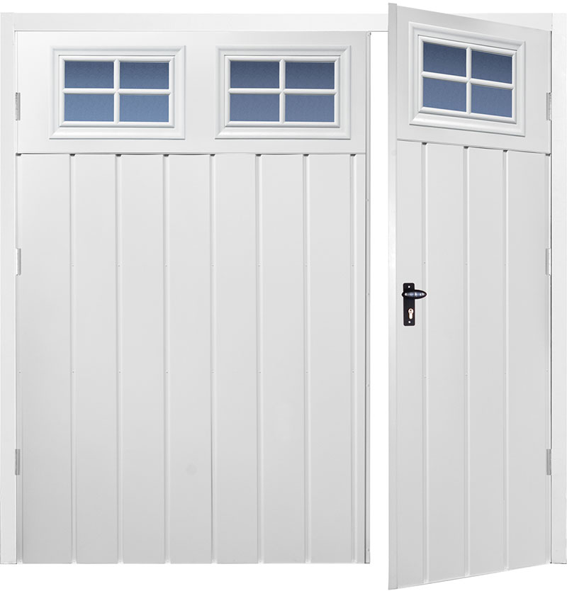 Gliderol Side Hinged Garage Doors - Chester Wide Vertical