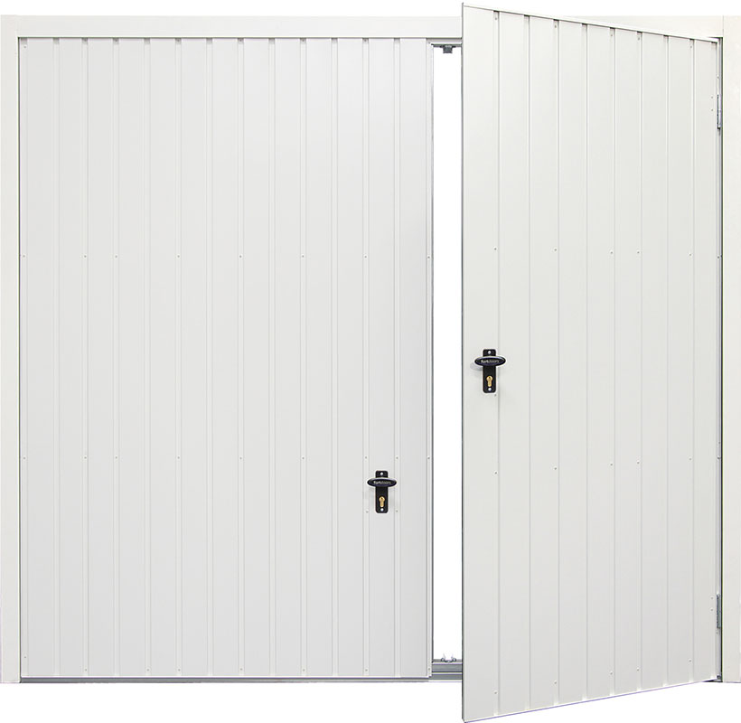 Gliderol Side Hinged Garage Doors - Vertical Smartpass