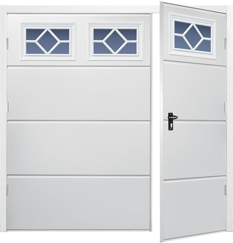Gliderol Side Hinged Garage Doors - Wide Rib Horizontal
