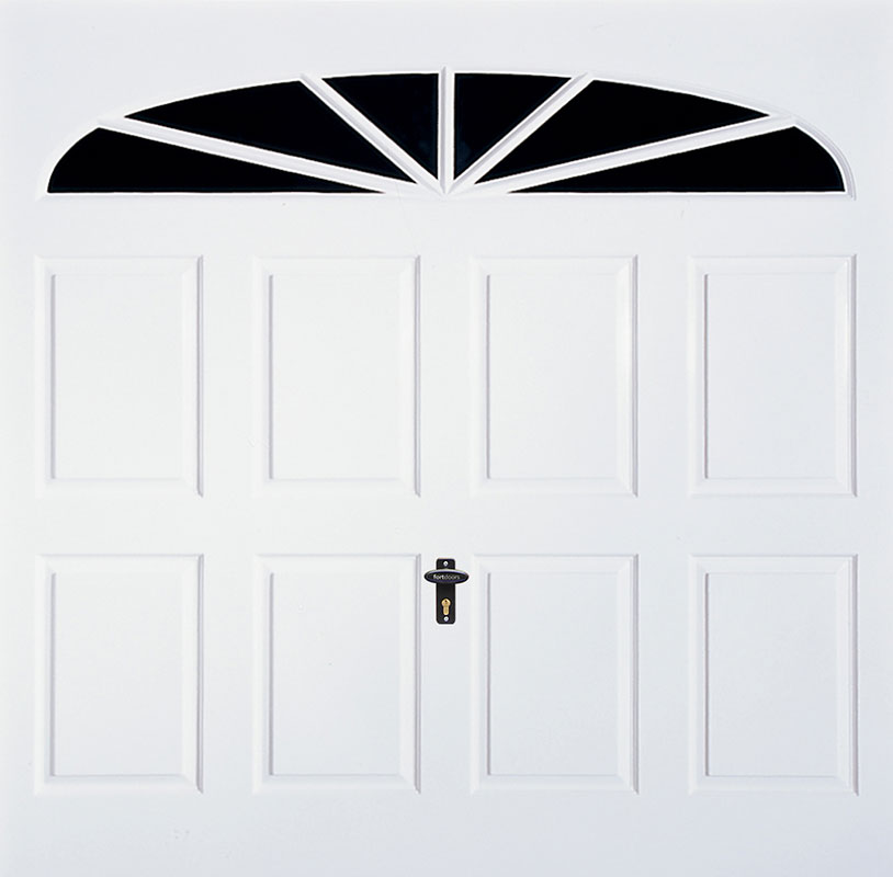 Gliderol Up and Over Garage Doors - Eastbourne White Gloss