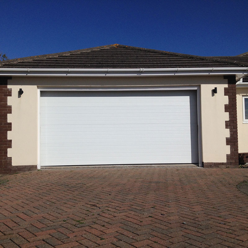 SWS SecuroGlide Sectional Garage Doors - Ribbed White