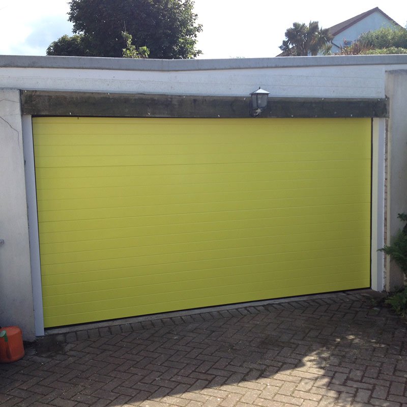 SWS SecuroGlide Sectional Garage Doors - Yellow Ribbed