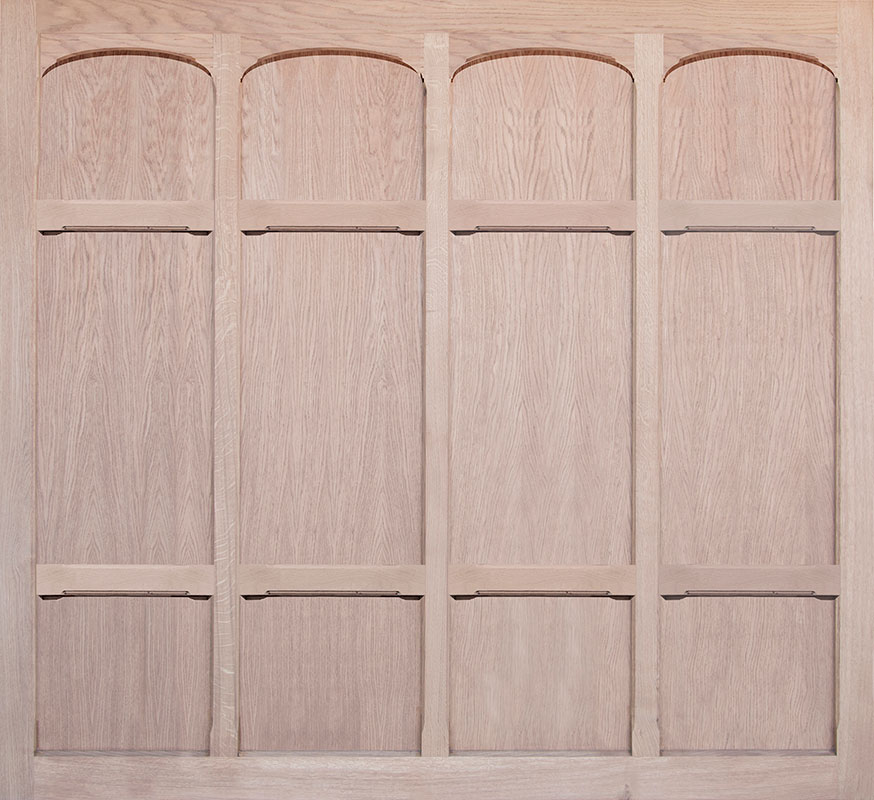Woodrite Tiber Up and Over Garage Doors - Monmouth Oak - Oakmere
