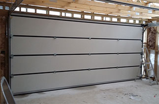 Inside view of a Carteck double sectional garage door. Fitted in Wokingham, Berkshire.